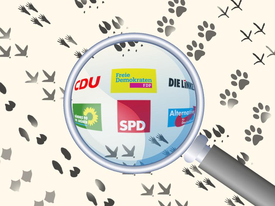 Die Parteien wurden zu ihrer Position im Tierschutz befragt.